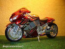 1:12 Kawasaki ZX 14 (ZZR 1400) rojo negro Custom 2009/00888