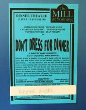 THEATRE FLYER DON'T DRESS FOR DINNER SIGNED BY DEBORAH MOORE