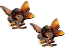 PARCELONA FRENCH SMALL 2 PIECES BUTTERFLY TORTOISE SHELL JAW HAIR CLAW CLIP
