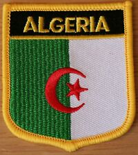 ALGERIA Shield Country Flag Embroidered PATCH Badge P1