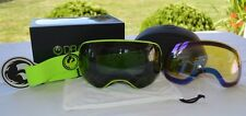2015 NIB DRAGON APX2 SNOWBOARD GOGGLES $220 green dark smoke extra yellow blue