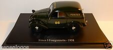 UNIVERSAL HOBBIES UH SIMCA 5 FOURGONNETTE 1938 POSTES POSTE PTT 1/43 BLISTER BOX