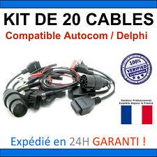 MEGA PACK 20 Adaptateurs / Câbles OBD2 - Compatible Autocom / Delphi / KTS ELM