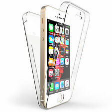 Front and Back Clear 360° Full protection Gel Cover Skin Case For iPhone 5/5S/SE
