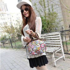 Free Shipping Newest Portable Flower Lunch Tote Bag Packet Food Storage Handbag