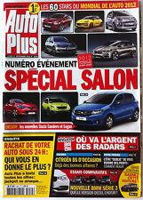 AUTO PLUS du 17/09/2012; Spécial Salon/ Les 60 Stars du Mondial de l'automobile