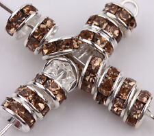 Lots 50/100Pcs Acrylic Silver Plated Crafts Spacer Loose Bead Charm Findings 8mm