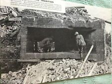 m10a ephemera ww1 picture lens canadian troops capture dug out
