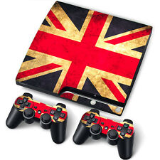 PS3 Slim PlayStation 3 Slim Skin Stickers PVC for Console & 2 Pads Dirty England