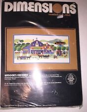 Vintage DIMENSIONS  WYSOCKI'S ORCHARD Counted Cross Stitch Kit w/extras!