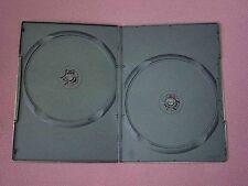 1 DOPPIO DVD Nero Caso slim 7mm DORSO NUOVO VUOTO copertura regolari