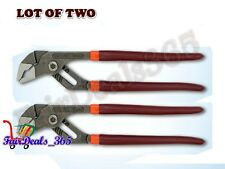 """BRAND NEWLOT OF 2PCS 8"""" PLIERS TONGUE GROOVE WATER PUMP SLIP JOINT VISE GRIP"""