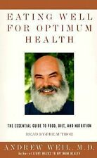 Eating Well for Optimum Health : The Essential Guide (Audiobook, 2000) - NEW