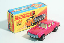 defekte Federung 1971 Matchbox Superfast - No MB 54 / 5 Ford Capri - Lesney  OVP
