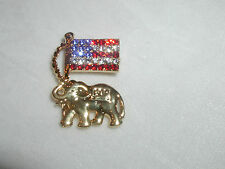 REPUBLICAN ELEPHANT GOP CONVENTION ELECTION CAMPAIGN TRUMP USA FLAG CRYSTAL!