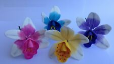 4 edible ORCHID cattlea cake decorations CUPCAKE TOPPER wedding BIRTHDAY FLOWER