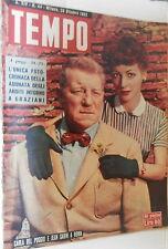 TEMPO 25 ottobre 1956 Yvonne Samson Giulietta Masina Pia Bellentani Dietrich di