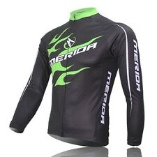 Mountain Bike Sportwears Cycling Jerseys Long Sleeve Bicycle Jersey Top Green