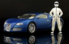 The white STIG Figure for 1:18 Autoart Chevrolet Corvette Top Gear  BBR RAR !