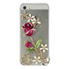 Handmade Fashion Luxury Bling Diamond Crystal Hard Clear Back Phone Case Cover