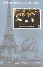 1998 I Beatles John Lennon Paul McCartney TORRE EIFFEL MNH STAMP SHEETLET