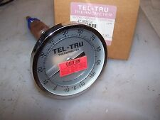 "NEW TEL-TRU STAINLESS STEEL THERMOMETER AA475R 6"" STEM 1/2"" NPT -10/110C"