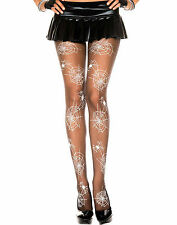 Sheer Nylon Spider Web Design Pantyhose Halloween Costume Tights Gothic Fashion