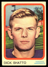 1963 TOPPS CFL FOOTBAL #70 DICK SHATTO EX+ TORONTO ARGONAUTS UNIV OF KENTUCKY