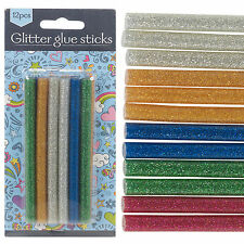 Mini Glitter Hot Glue Gun Sticks Melt Cartridges Art Assorted Bond Colours 7mm