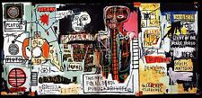 STAMPA SU TELA CANVAS JEAN MICHEL BASQUIAT NOTARY 90X185 POP ART