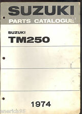 1974 SUZUKI TM250 MOTORCYCLE PARTS MANUAL / FACTORY ORIGINAL