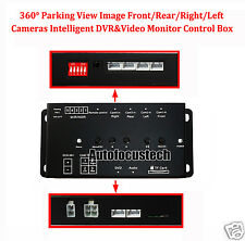 360° Full View Parking Image Front/Rear/Right/Left Cameras DVR&Video Monitor Box