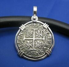 Key West Piece Of Eight Sterling Silver Replica Shipwreck Pirate Coin Pendant