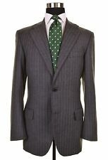 BESPOKE Oxxford Clothes Archive Collection FLANNEL Wool 2pc Suit Jacket Pants 38