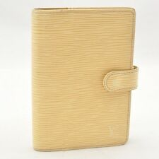 Authentic  Louis Vuitton Epi Agenda PM Day Planner Cover Vanilla R2005A #S2117 E