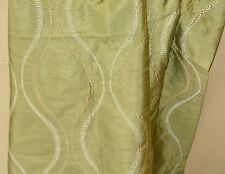 Pier 1 one Drapes Panels Sage Green Embroidered Satin New
