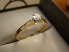18k 18ct Solid Gold Diamond Solitaire Ring. 0.18ct Size O 2.38g