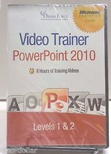 PowerPoint 2010 Video Trainer DVD Levels 1&2 Dream Force Kirt Kershaw NEW #3030