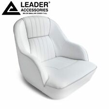 Leader Accessories Deluxe Bucket Boat Seat White/Gray piping