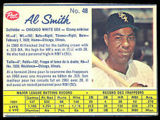 1962 POST BASEBALL CANADIAN #48 AL SMITH EX-NM CHICAGO WHITE SOX  CARD
