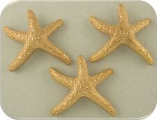 2 Hole Beads Starfish ~Ocean Life Animal Beach Aquatic Gold Metal Sliders QTY 3