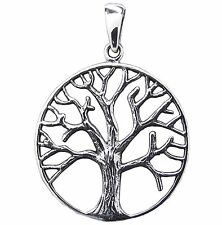TREE OF LIFE PENDANT 925 Sterling SILVER 28mm Diameter 38mm Drop Celtic