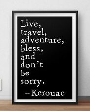Jack Kerouac famous literary quote poster Beat Generation
