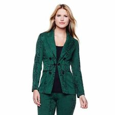 Serena Sophisticated Fashionable Timeless Printed Blazer Snake S NEW 283-543