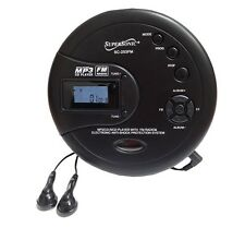 Supersonic SC-253FM Personal Anti-Shock MP3/CD Player with FM Radio