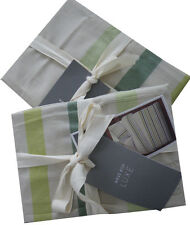 West Elm Playa Stripe Standard Shams -Celery Root Set of 2