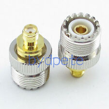 UHF SO239 SO-239 jack female to SMA female jack RF Connector Converter Adapter