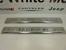 14-15 Jeep Cherokee New Door Sill Guards Stainless Steel Front Mopar Factory Oem