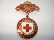 C1930S VINTAGE THE BRITISH RED CROSS SOCIETY COUNTY OF GLAMORGAN PIN BADGE