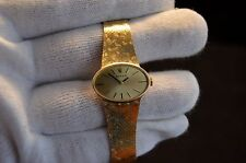 LADIES ROLEX 14K SOLID YELLOW GOLD HAND WINDING DRESS WATCH 17JEWEL CALIBER 1400
